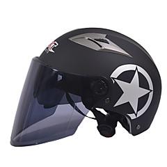 GXT M11 μοτοσικλέτα μισό κράνος διπλής φακό Harley αντηλιακό κράνος καλοκαίρι unisex κατάλληλο για 55-61cm με φακό καθρέφτη μακρύ τσάι