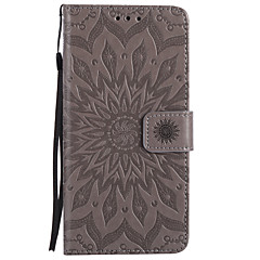 billige iPhone 6 Plus Plus-etuier-Etui Til Apple iPhone X iPhone 8 Kortholder Pung Med stativ Flip Mønster Præget Fuldt etui Mandala-mønster Hårdt PU Læder for iPhone X