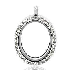 preiswerte Anhänger-Schwimmende Medaillon Anhänger - Strass, Diamantimitate Medaillon Luxus, Anhänger Stil Anhänger Silber Für Hochzeit / Party / Alltag