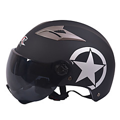GXT M11 μοτοσικλέτα μισό κράνος διπλής φακό Harley αντηλιακό κράνος καλοκαίρι unisex κατάλληλο για 55-61cm με φακό καθρέφτη σύντομο τσάι