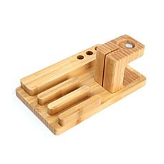 2 en 1 de bambú cargo artes del sostenedor del teléfono móvil para el reloj del soporte del soporte del teléfono del reloj de la manzana