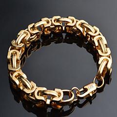 tanie Bransoletki-Męskie Bransoletki i łańcuszki na rękę Modny Pozłacane 18K złoty Geometric Shape Biżuteria Prezenty bożonarodzeniowe Specjalne okazje