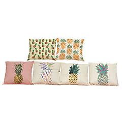 tanie Poduszki-6 szt Bielizna Pokrywa Pillow Poszewka na poduszkę,Stały Textured Geometryczny Tradycyjny / Classic Wałek Styl plażowy