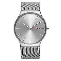 preiswerte Tolle Angebote auf Uhren-CURREN Herrn Armbanduhr Armbanduhren für den Alltag / / Legierung Band Freizeit / Modisch / Minimalistisch Silber / Gold