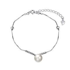 Bracelet Chain Bracelet Charm Bracelet Sterling Silver Imitation Pearl Cowry IrregularNatural Friendship Turkish Gothic Movie Jewelry