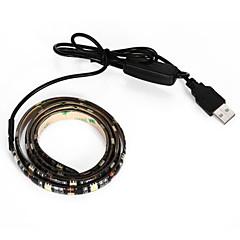 cheap LED Strip Lights-BRELONG USB 90CM 6.5W 500LM DC5V 5050 27 Lamp Waterproof IP65 Cool White TV / Laptop background light