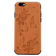 Для Рельефный С узором Кейс для Задняя крышка Кейс для Бабочка Мягкий Искусственная кожа для AppleiPhone 7 Plus iPhone 7 iPhone 6s Plus