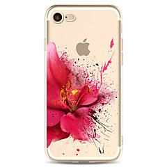 Недорогие Кейсы для iPhone 7-Кейс для Назначение Apple iPhone X iPhone 8 Plus С узором Кейс на заднюю панель Цветы Мягкий ТПУ для iPhone X iPhone 8 Pluss iPhone 8