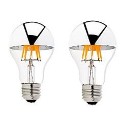 お買い得  LED 電球-6W B22 E26/E27 フィラメントタイプLED電球 G60 6 COB 600 lm 温白色 明るさ調整 交流220から240 AC 110-130 V 2個