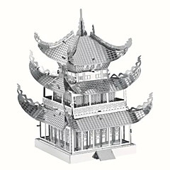 tanie -Zabawki 3D Puzzle Metalowe puzzle Zabawki Znane budynki Chińska architektura Architektura 3D DIY Metal Dziecięce Sztuk