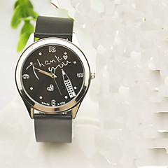 お買い得  レディース腕時計-女性用 ファッションウォッチ クォーツ ラインストーン 模造ダイヤモンド シリコーン バンド ハンズ チャーム カジュアル ワードダイアル腕時計 ブラック - ブラック