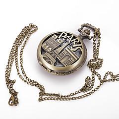 お買い得  メンズ腕時計-男性用 懐中時計 ネックレスウォッチ クォーツ ホット販売 合金 バンド ハンズ チャーム ヴィンテージ カジュアル 多色 - 青銅色
