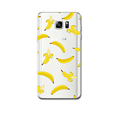 For Ultratyndt Mønster Etui Bagcover Etui Frugt Blødt TPU for Samsung Note 5 Note 4