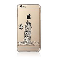 voordelige iPhone 4s / 4 hoesjes-hoesje Voor Apple iPhone 7 Plus iPhone 7 Transparant Patroon Achterkant Uitzicht op de stad Zacht TPU voor iPhone 7 Plus iPhone 7 iPhone