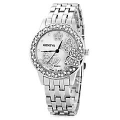 preiswerte Damenuhren-Damen Modeuhr / Kleideruhr / Simulierter Diamant Uhr Imitation Diamant Rose Gold überzogen / Legierung Band Schmetterling Silber / Gold / Rotgold