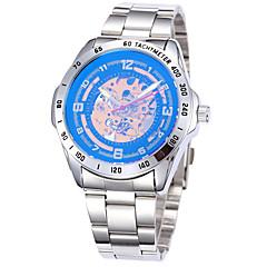 preiswerte Tolle Angebote auf Uhren-Herrn Automatikaufzug Mechanische Uhr / Armbanduhr / Militäruhr / Sportuhr Punk / Cool Edelstahl / Echtes Leder Band Luxus / Retro /
