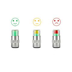 abordables Cubiertas y Cámaras-4 neumáticos tapa del vástago de la válvula de indicador de monitor de presión de la alarma del ojo sensor
