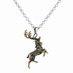 Недорогие Ожерелья-Муж. Жен. С логотипом Ожерелья с подвесками - Животный принт Уникальный дизайн, В виде подвески Серебряный, Бронзовый Ожерелье Бижутерия Назначение
