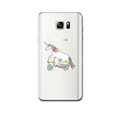 Для Ультратонкий С узором Кейс для Задняя крышка Кейс для единорогом Мягкий TPU для Samsung Note 5 Note 4