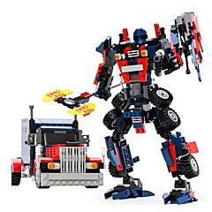 GUDI إنسان آلي أحجار البناء لعبة سيارات ألعاب ألعاب محارب آلة إنسان آلي التحويلية الأطفال صبيان فتيات الفتيان 377 قطع