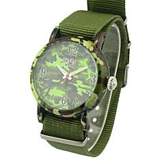 preiswerte Tolle Angebote auf Uhren-Herrn Modeuhr Quartz Stoff Band Bettelarmband Grün