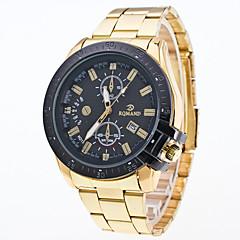 baratos Relógios em Oferta-Homens Quartzo Relógio de Pulso Relógio Elegante Relógio Esportivo Mostrador Grande Lega Banda Amuleto Fashion Cores Múltiplas