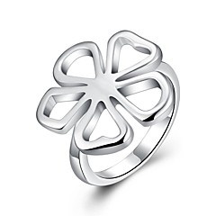 Women's Ring Jewelry Basic Unique Design Flower Style Rhinestone Flowers Geometric Friendship Euramerican Simple Style Floral Crossover