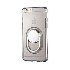 Varten Sormuksen pidike 360° kierto Etui Takakuori Etui Yksivärinen Pehmeä TPU varten AppleiPhone 7 Plus iPhone 7 iPhone 6s Plus iPhone 6