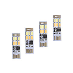 abordables Lámparas LED Novedosas-BRELONG® 4 Piezas Luces USB Regulable Emergencia Color variable Tamaño Compacto