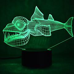 عيد الأسماك اللمس يعتم 3d ليد ضوء الليل 7 الديكور الملونة جو مصباح الإضاءة الجدة ضوء عيد الميلاد