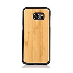 Para Diseños Funda Cubierta Trasera Funda Un Color Dura Madera para Samsung S7 edge S7