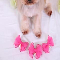 Γάτες Σκυλιά Αξεσουάρ Μαλλιών Ρούχα για σκύλους Χειμώνας Καλοκαίρι Άνοιξη/Χειμώνας Πέρλα Cute Γάμος Γιορτή Μοντέρνα Καθημερινά Πρωτοχρονιά