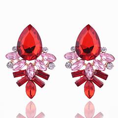 cheap Earrings-Women's Crystal Crystal Stud Earrings - Geometric Black Fuchsia Red Blue Geometric Earrings For Party Daily Casual
