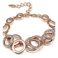 preiswerte Armbänder-Damen Ketten- & Glieder-Armbänder - Strass Modisch Armbänder Gold / Silber Für Weihnachts Geschenke / Party / Besondere Anlässe
