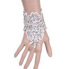 Dame Kæde & Lænkearmbånd Mode Blonde Bladformet Smykker Til Bryllup Fest Speciel Lejlighed Fødselsdag Julegaver