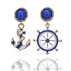 preiswerte Ohrringe-Damen Tropfen-Ohrringe - Blume Einzigartiges Design, Böhmische, Euramerican Blau Für Party / Alltag / Normal