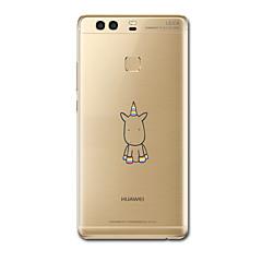 お買い得  Huawei Pシリーズケース/ カバー-ケース 用途 Huawei社P9 Huawei社P9ライト Huawei社P8 Huawei Huawei社P9プラス Huawei P7 Huawei社P8ライト 超薄型 パターン バックカバー ユニコーン ソフト TPU のために Huawei P9 Plus
