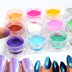 12bottle/set Nagelkunst decoratie Strass parels make-up Cosmetische Nagelkunst ontwerp