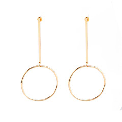 billige Øreringe-Dame Store øreringe / dingle øreringe - Personaliseret, Europæisk, Mode Guld / Sølvfarvet Til Fest / Daglig / Afslappet