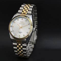 お買い得  大特価腕時計-CHENXI® 男性用 クォーツ 日本産クォーツ ドレスウォッチ 耐水 / カジュアルウォッチ ステンレス バンド ヴィンテージ カジュアル クール シルバー ゴールド