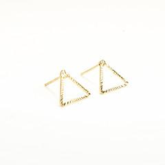 preiswerte Ohrringe-Damen Ohrstecker - Personalisiert, Geometrisch, Modisch Gold / Silbern Für Alltag / Normal