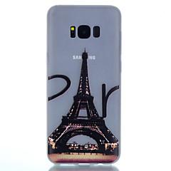 Voor Glow in the dark Mat Doorzichtig Patroon hoesje Achterkantje hoesje Eiffeltoren Zacht TPU voor SamsungS8 S8 Plus S7 edge S7 S6 edge