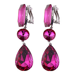 Women's Clip Earrings Jewelry Bohemian Euramerican Fashion Synthetic Gemstones Chrome Jewelry Jewelry For Wedding Party Special Occasion