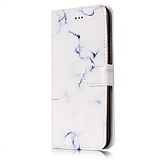 Недорогие Кейсы для iPhone 6 Plus-Кейс для Назначение Apple iPhone 7 / iPhone 7 Plus Кошелек / Бумажник для карт / со стендом Чехол Мрамор Твердый Кожа PU для iPhone 7 Plus / iPhone 7 / iPhone 6s Plus