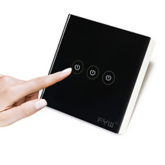 fyw τρεις συμμορία αφής τηλεχειριστήριο δεν χρειάζεται να κοπεί καλωδίωση τοίχο εσωτερική τηλεχειριστήριο μπορεί να είναι σε 30 μέτρα