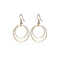 preiswerte Ohrringe-Damen Tropfen-Ohrringe - Grundlegend, Simple Style, Doppelschicht Gold / Silber Für Party Alltag Normal