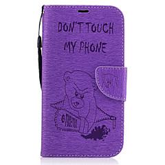 إلى محفظة حامل البطاقات مع حامل قلب مطرز غطاء كامل الجسم غطاء حيوان قاسي جلد اصطناعي إلى Motorola MOTO G4 Moto G4 Plus