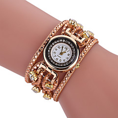 Mujer Reloj Casual Reloj Pulsera Simulado Diamante Reloj Chino Cuarzo La imitación de diamante PU Banda Vintage Casual Bohemio Negro