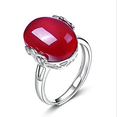 Women's Ring Unique Design Costume Jewelry Sterling Silver Crystal Agate Drop Jewelry For Wedding Party Special Occasion