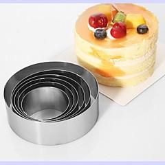 お買い得  ベイキング用品&ガジェット-ベークツール ステンレス鋼 DIY ケーキ 円形 ベーキングモールド 6本